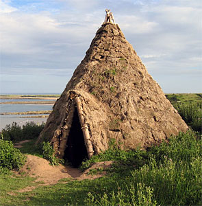 Reconstruction of howick mesolithic house